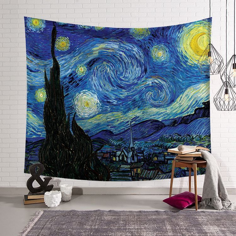 Large <font><b>150*200</b></font> famous painting tapestry wall hanging hippie boho decor bed sheet beach towel mandala wall tapestry image
