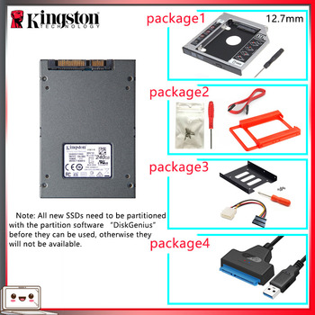 Original Kingston SSD жесткий диск 240 gb SATS 3 HDD 2.5 inch Disco Duro ssd with Hdd Caddy/Optibay or Adapter For PC Laptop