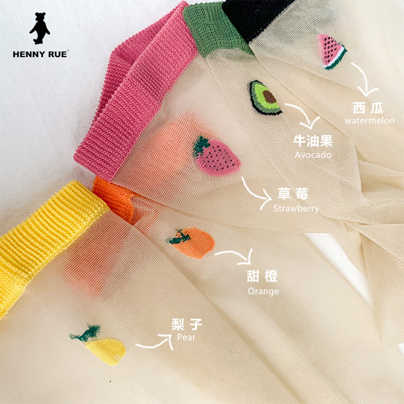 Women Socks 2020 New Girl Women Fashion Thin Funny Socks Women Breathable Transparent Cute Fruit Women Color Socks Korea Style