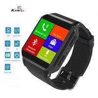 Kaimorui KW06 3G GPS inteligentny zegarek mężczyźni 512MB + 8G Bluetooth z kamerą pulsometr podłącz kartę SIM MTK6580 Smartwatch w Inteligentne zegarki od Elektronika użytkowa na