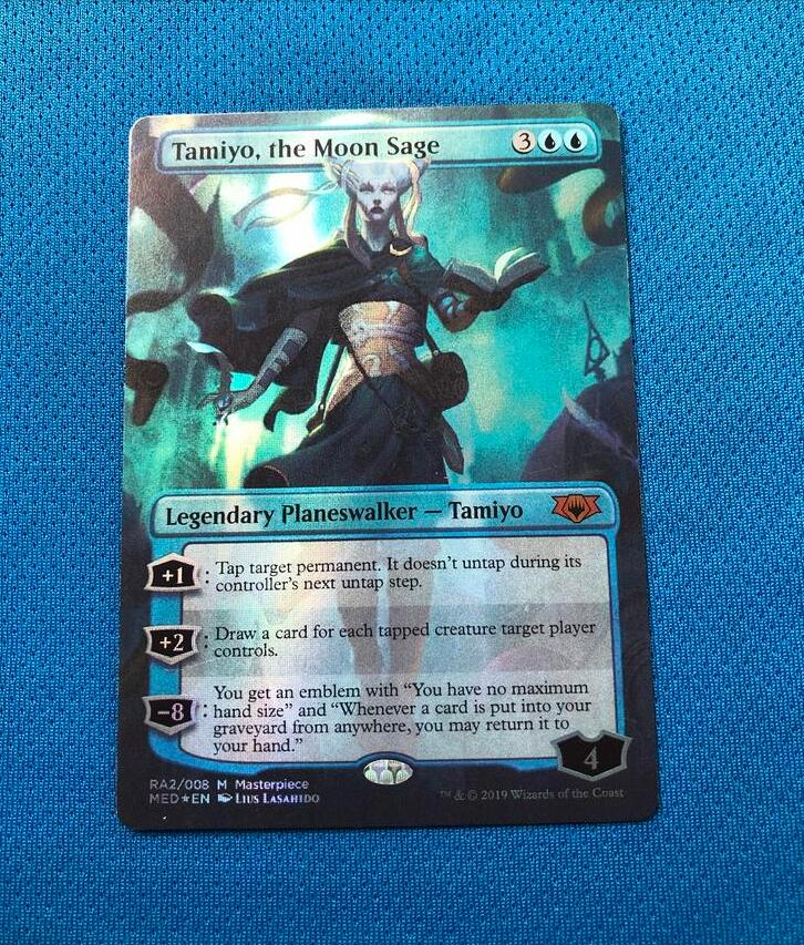 Tamiyo, The Moon Sage MED Mythic Edition Foil Magician ProxyKing 8.0 VIP The Proxy Cards To Gathering Every Single Mg Card.