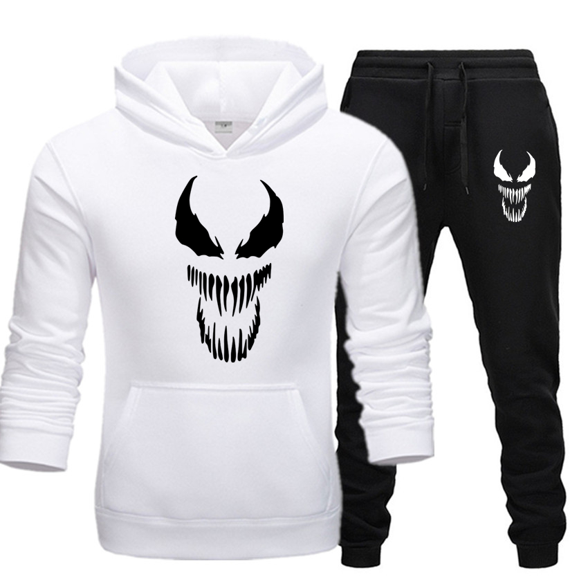 Men's Venom Set New Hooded Pieces Sets Fashion Brand Clothes Hoodies+Pants Set Sportswear Tracksuit Men Hoodie Autumn Men Sets