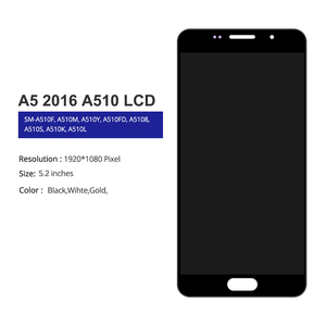 Image 2 - 5.2 LCD pour Samsung A5 2016 LCD affichage A510 A510F A510M SM A510F écran tactile numériseur LCD pour Samsung A5 A510 noir/blanc