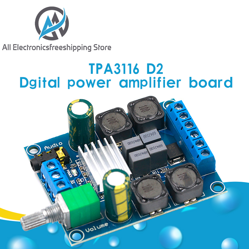 TPA3116D2 2.0 Digital power amplifier Board 50w X2 Stereo Audio amplifier
