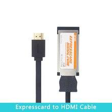 Expresscard ao cabo do adaptador de hdmi para a placa de vídeo gráfica de exp gdc para o portátil