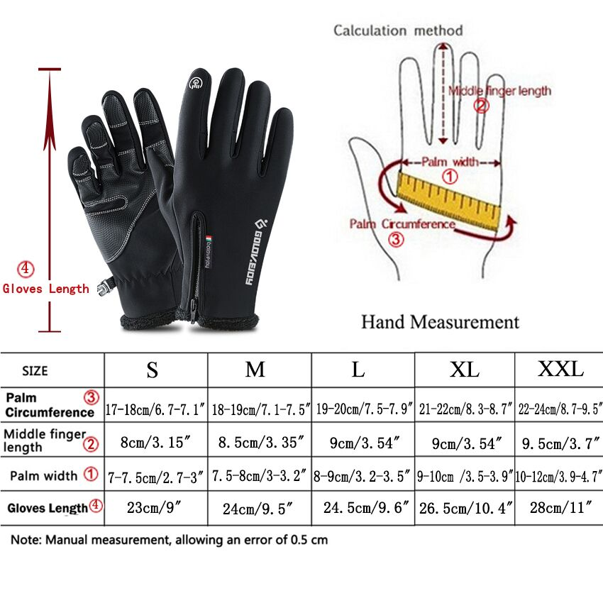 H472d4918e7684704b2947935f3ff93f2Y - 5 Size Cold-proof Unisex Waterproof Winter Gloves Cycling Fluff Warm Gloves For Touchscreen Cold Weather Windproof Anti Slip