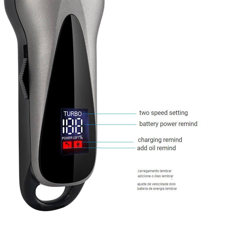 Image 4 - Professional barber hair clipper electric hair trimmer man rechargeable hair cutting machine haircut compatible for wahl pro-in Hair Trimmers from Home Appliances