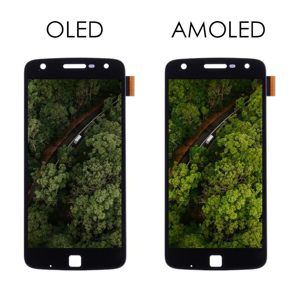 ЖК-дисплей AMOLED для Moto Z Play, ЖК-дисплей, сенсорный экран, дигитайзер для Moto Z Play, ЖК-дисплей Pantalla, полная сборка, XT1635 XT1635-02