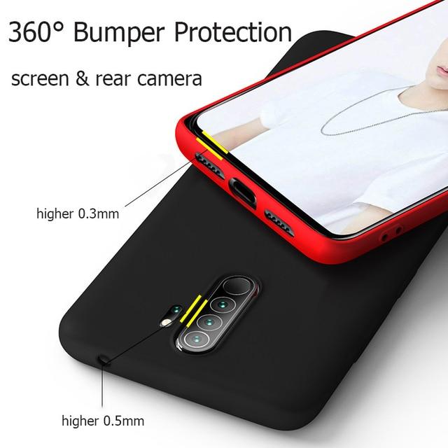 For Xiaomi Redmi Note 8 Pro Case Rubber Liquid Silicone Armor Case For Xiaomi Redmi Note 8 Pro Case Cover For Xiaomi Note 8 Pro