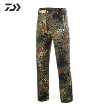 Daiwa камуфляжные штаны, термо мульти-карманные тактические штаны, мужские водонепроницаемые Походные штаны для рыбалки, мужские уличные охотничьи штаны