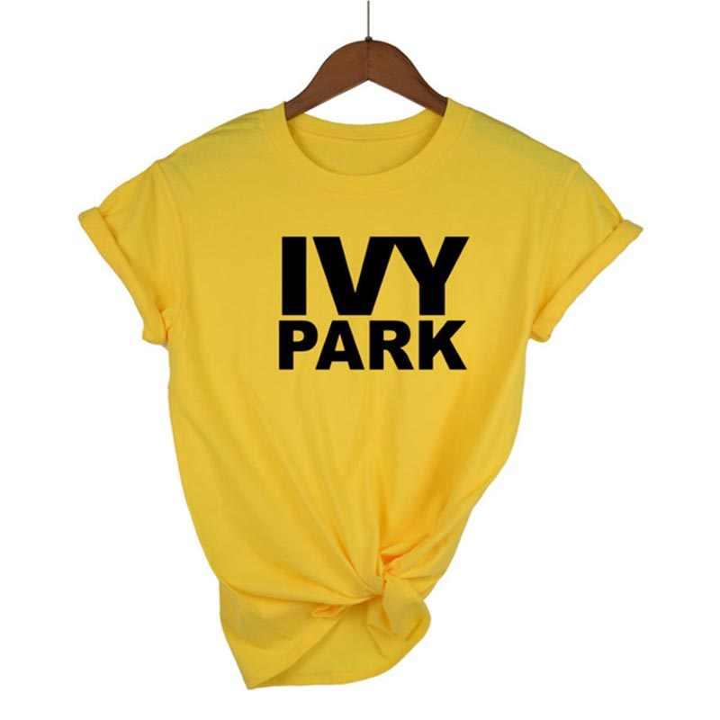 Nuovo Divertente Manica Corta T-Shirt per Unisex Della Signora Halajuku Top Magliette Pantaloni A Vita Bassa IVY PARK Lettere Stampate Donna Tshirt