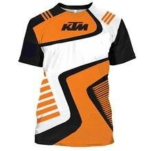 Camiseta de motociclismo para hombre, camisetas cortas 3D de manga corta para carreras al aire libre, camisetas oversize 4XL