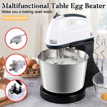 Stainless Steel Mini 7 Speed Manual Electric Handheld Mixer Egg Beater Automatic Cream Food Cake Baking Dough Mixer Food Blender