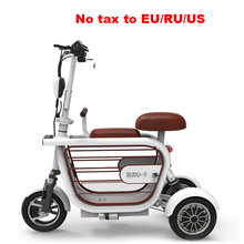 3 wheel electric bike parent child folding ebike carbon steel lithium battery e bike adult mini city outdoor electric bicycle