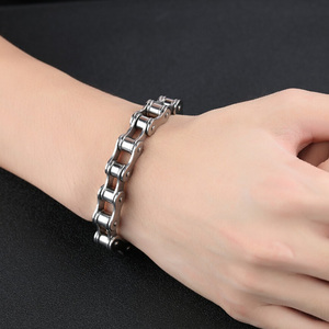 Fashion Men Stainless Steel Motorcycle Bike Chain Bracelet Bangle Jewelry Gift