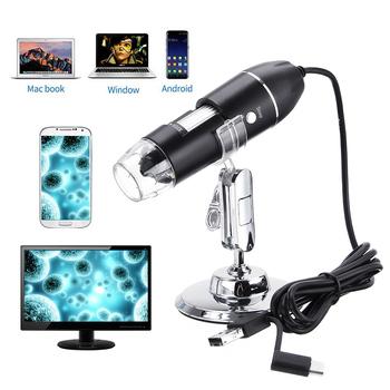 500X 1000X 1600X 3 w 1 nowy przenośny rodzaj USB c ręczny mikroskop cyfrowy 8 endoskop LED USB Zoom kamera lupa stojak tanie i dobre opinie ZEAST 1500X-3000X Wysokiej Rozdzielczości Handheld PORTABLE Monokularowy 500X 1000X 1600X