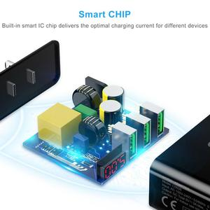 Image 3 - CHOETECH 3 منفذ USB 5v3A شاحن آيفون Xs X 8 7 LED العرض الرقمي سريع الجدار شاحن الهاتف لسامسونج شاومي ASUS