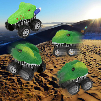 2020 New Dinosaur Friction Powered Car Pull Back Vehicle Mini Animal Car Toy For Gifts Ki toys for children brinquedos игрушки image