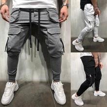 HEFLASHOR Casual Sports Pants Men Pockets Joggers Zipper Hip