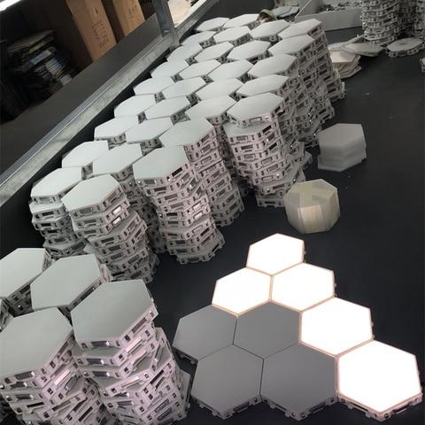 quantum lampada led hexagonal lampadas