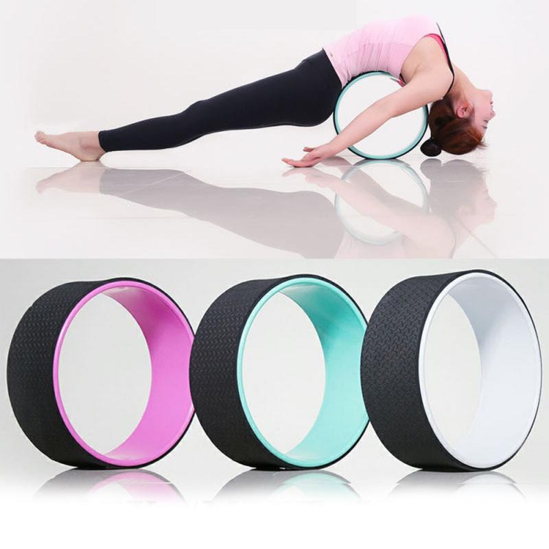 Yoga Circle Professional Waist Bodybuilding Pilates Gym Workout Back Training Yoga Wheel Training Tool For Fitness Yoga 7