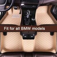 MIDOON Car floor mats for BMW 1 2 3 Series 4 5 6 7 Series X1 X2 X3 X4 X5 X6 X7 Z4 M1 M3 M4 X5M Custom auto foot Pads automobile