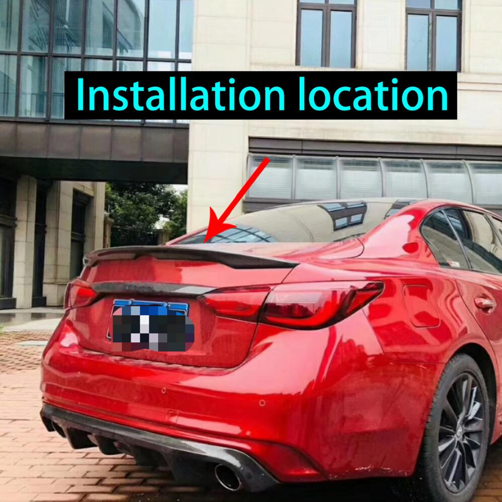 Rear Carbon Fiber Car Trunk Spoiler Wing For INFINITI Q50 Q50S 2014 2018 Rear Wing Spoiler Rear Trunk Roof Wing in Interior Mouldings from Automobiles Motorcycles