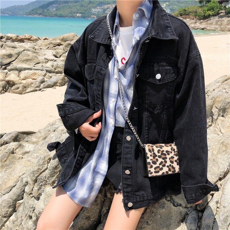 Denim Jacket Women Coats and Jackets Harajuku Clothes Womens Black Coat Japanese High Fashion Streetwear Students Vintage Loose