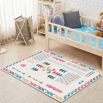 Alfombra geométrica de estilo marroquí para sala de estar, Dormitorio, Hotel, Homestay,...