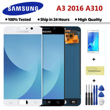 4.7 inch A310 LCD For SAMSUNG Galaxy A3 2016 A310 A310F A3100 LCD Display Touch Screen Replacement A310F Display With Frame(China)
