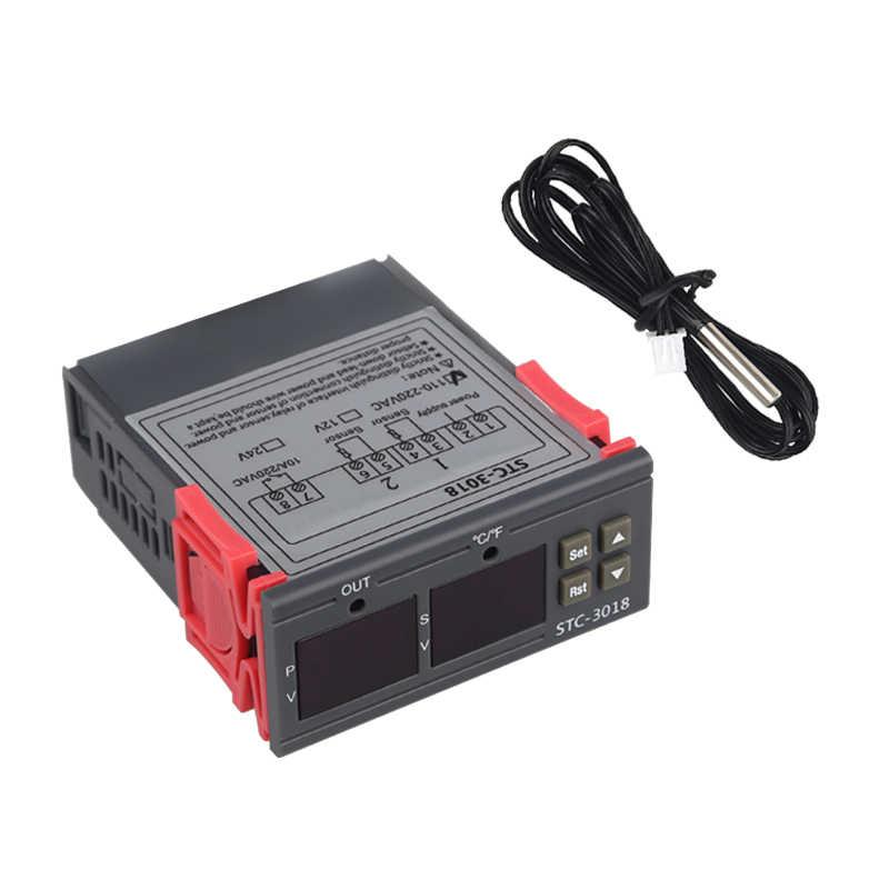 STC-3018 1210 ワットデジタルサーモスタットインキュベーターのための温度コントローラ温度調節リレー加熱冷却 12V 24V 220V