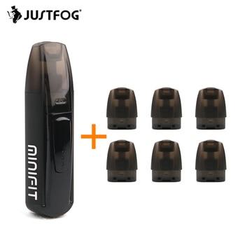 Pod Vape Kit JUSTFOG Minifit Electronic Cigarette Kit 370mAh Battery 1.5ml 1.6ohm Pod Cartridge For CBD E juice VS Caliburn Kit