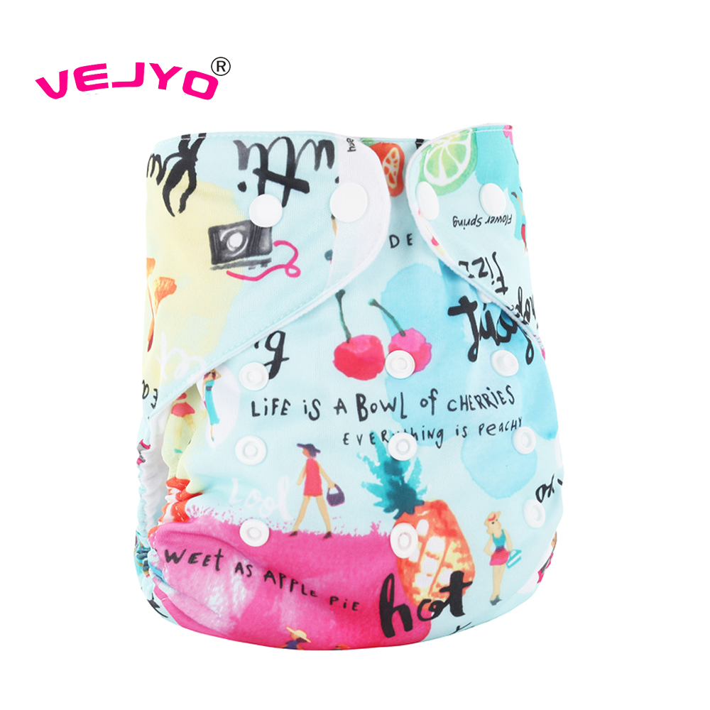Baby Washable Reusable Baby Cloth Diapers Nappies One Size Pocket in Bunch