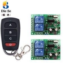 433 MHz rf שלט רחוק AC 220V 10A 2CH ממסר מקלט עבור יוניברסל מוסך/דלת/אור/LED/איכר/מנוע/אות שידור