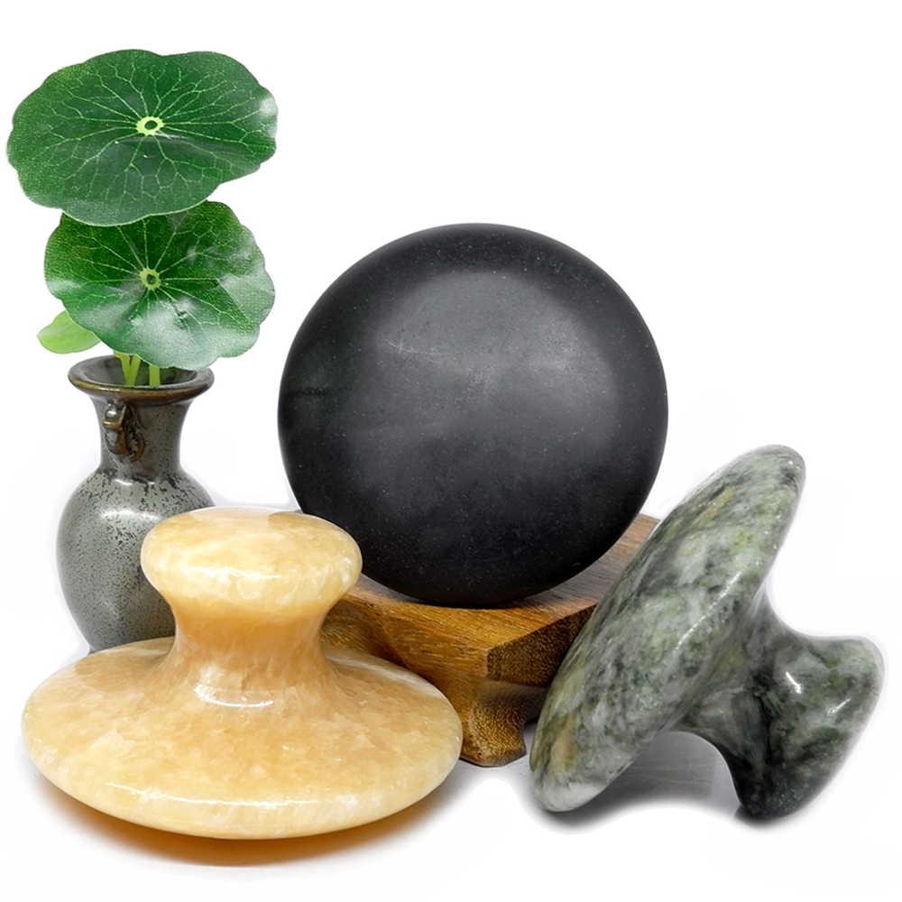 Лава Грибовидные для массажа камень базальтовый нефрит лица тела ноги Gua Sha