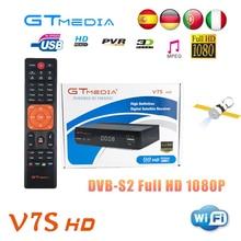 Satellite Receiver Gtmedia V7S 1080P Full HD DVB-S2 + USB WIFI support PowerVu YouTube + 1 Year Cccam server hd for Europe Spain стоимость