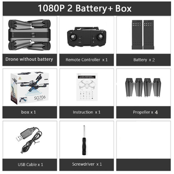 SG706 RC Drone 4K HD Dual Camera WIFI FPV Foldable Drone profissional 50X Zoom camera Quadcopter Optical Flow Dron VS M69G SG106 16