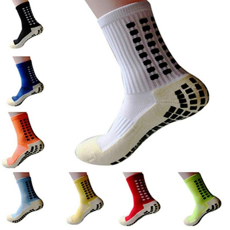 Новые спортивные Нескользящие футбольные носки, хлопковые мужские носки для футбола, носки того же типа, что и Trusox, нескользящие носки