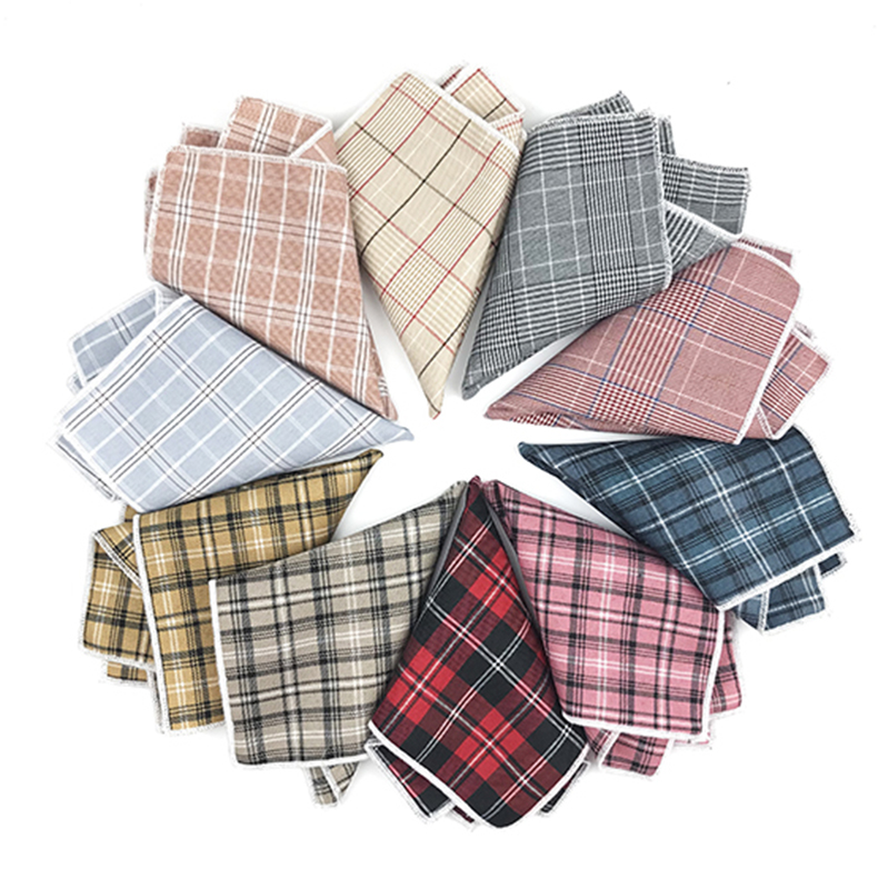 High Quality Cotton Polyester  Mens Pocket Squares Casual Handkerchief For Men