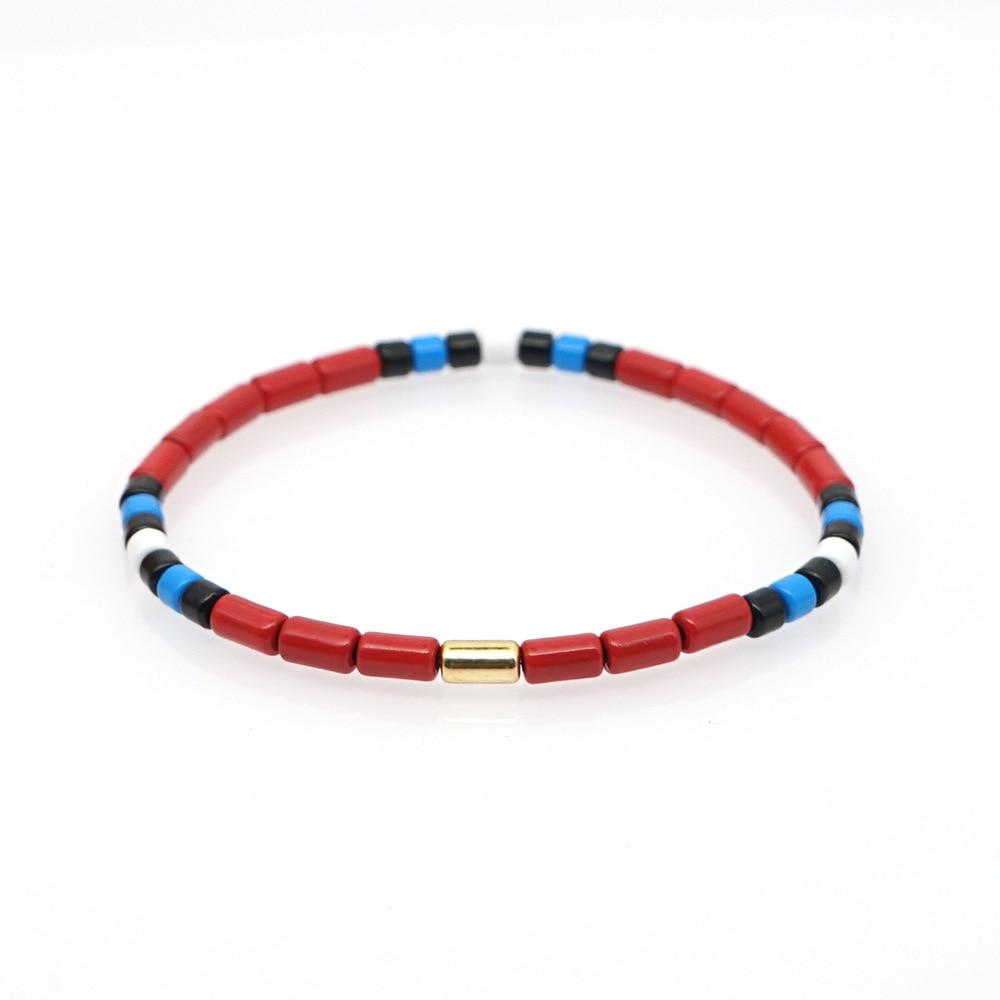 XUXI Fashion Japan Rice Beads charm Bracelet 2020 bracelets for Women New Couple Handmade Zinc Alloy Paint SS027