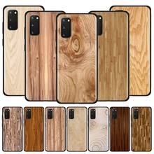 Silicone Soft Case for Samsung Galaxy S20 Ultra S10 S10E S9 S8 S10 S9 S8 Plus S7 S7 Edge Phone Cover Texture Wood tv riverdale jughead jones silicone case for samsung galaxy s20 ultra 5g s10 s10e s9 s8 s7 s10 s9 s8 plus s7 edge phone cover