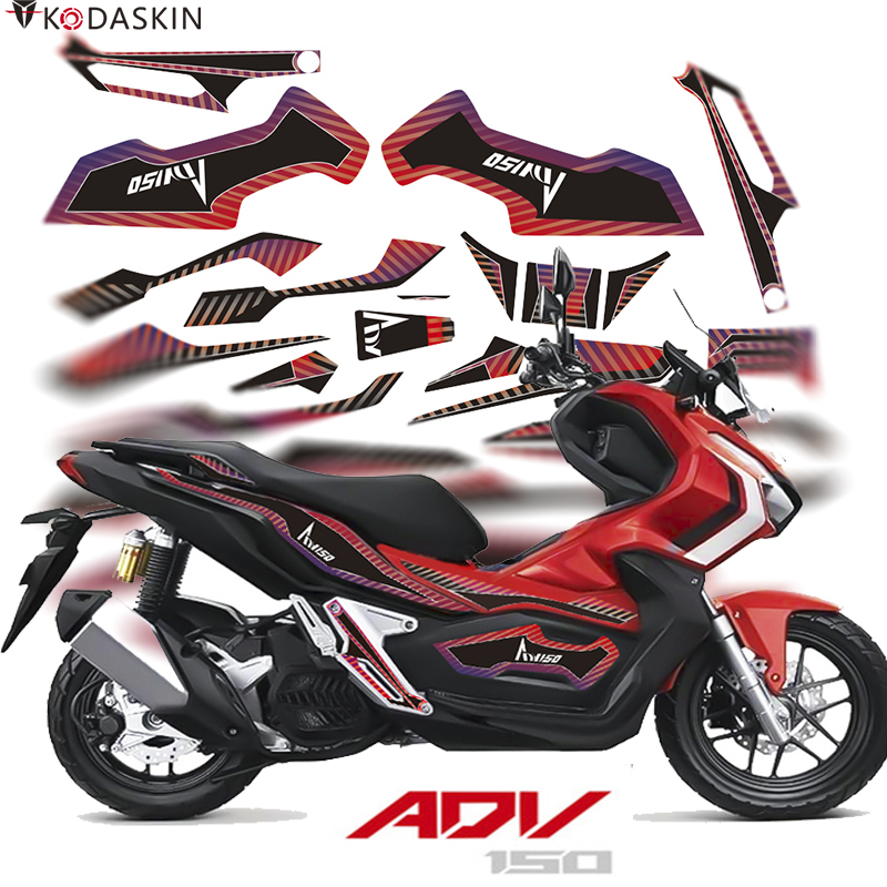 Kodaskin 2D Printing Fairing Emblem <font><b>Sticker</b></font> For <font><b>Honda</b></font> ADV150 adv <font><b>150</b></font> Motorcycle Body Full <font><b>Kit</b></font> Decoration <font><b>Sticker</b></font> accessory image