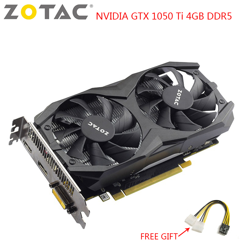 ZOTAC NVIDIA GTX 1050 Ti Graphics Card Gaming PC Video Card GeForce GTX 1050 Ti 4GB DDR5 128-Bit Used Gaming Video Cards image