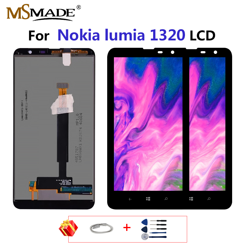 For <font><b>Nokia</b></font> Lumia <font><b>1320</b></font> LCD Display Touch Screen For <font><b>Nokia</b></font> <font><b>1320</b></font> Display Digitizer Replacement <font><b>Parts</b></font> With Frame 6.0
