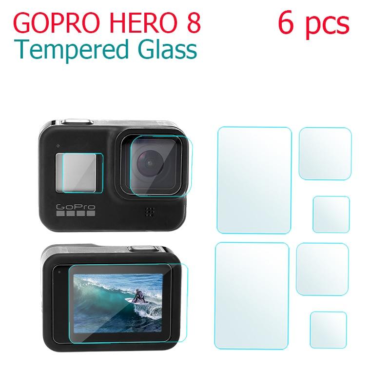 Film Protector De Lente 3Pcs para GoPro Hero 8 Pantalla de Vidrio Templado Película De Pantalla