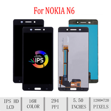 цена на Original For NOKIA 6 LCD Display Touch Screen Digitizer Assembly For Nokia 6 Display Replacement TA-1003 TA-1021 TA-1025 TA-1033