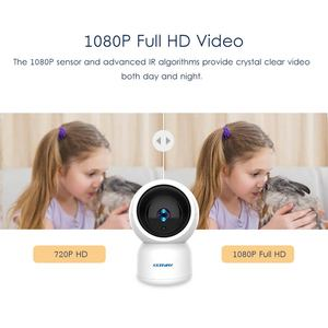 Image 3 - 1080P HD YCC365 Plus kamera IP WiFi automatyczne śledzenie człowieka Mini kamera wi fi kryty PTZ bezpieczeństwo w domu kamery niania elektroniczna Baby Monitor