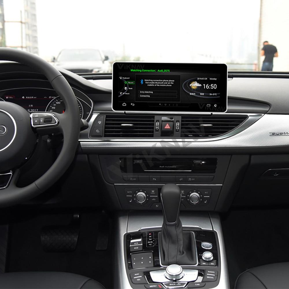 Rádio do carro para audi a6 a7 2012-2018 android auto áudio multimídia player unidade de cabeça de navegação gps hd tela de toque dois interruptor do ui