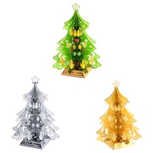 Jigsaw puzzle 3d metal toy DIY Christmas tree model handmade assembly kit educational collection decorative Christ