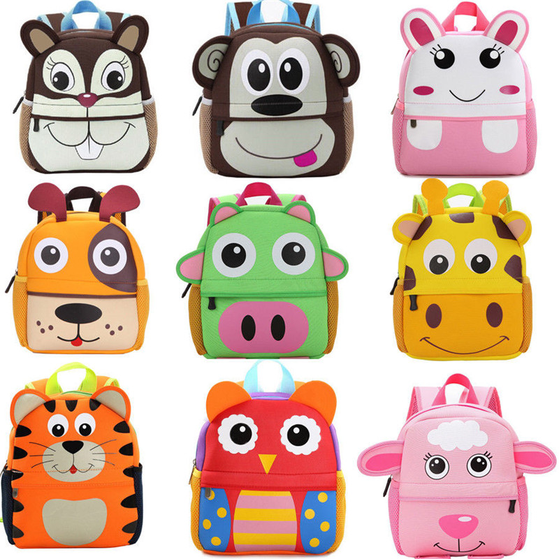Toddler Kid Children Boy Girl Cartoon Animal Backpack School Bag Kindergarten